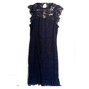 NWT navy blue lace dress by Meerokeety, size M